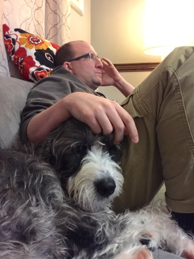 """She's never nervous about """"uncle"""" Ben. She'll even be his snoring armrest."""