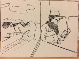From a photo I took on a train ride to Bruges