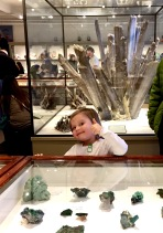 At Harvard's Museum of Natural History - thumbs up for rocks!