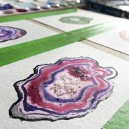 Agate slice painting.