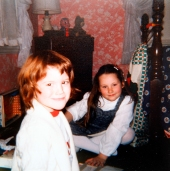 Me and Maureen in her room (I think - definitely at their house)