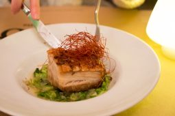 Pork belly with saffron