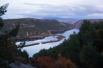 The view of Krka River on the way out of the park