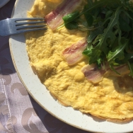 Omlette with pancetta