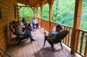 Enjoying another porch at our cabin this weekend