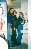 With Dory and Suzanne. We were housemates senior year.