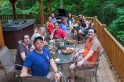 Dinner on the cabin's deck