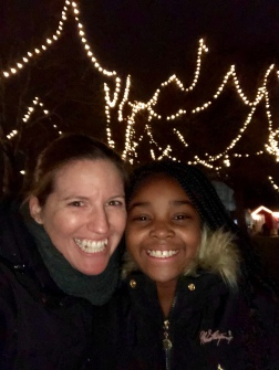 With L at the Wakefield tree lighting.