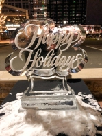 I call this one the nuclear holiday ice sculpture