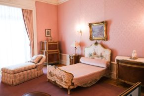 a very very pink room, aptly named The Pink Room