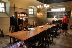 the servants dining quarters. the halls surrounding this area were to scale of the set as well.
