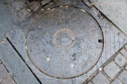 Elephants on the manhole covers!