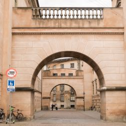 In downtown Copenhagen, this is the Bridge of Sighs, and it connects the jail to the courthouse.