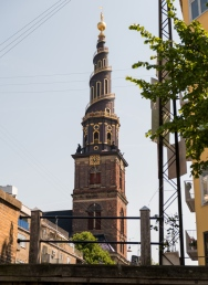 Church of Our Savior, which has Baroque, 17th-century place of worship with a carillon & steps around the outside of the spire.