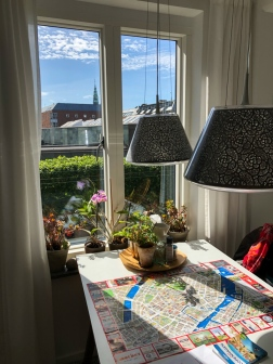 A lovely view on a sunny day in our AirBnB