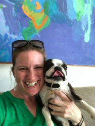 Tormod's dog Bobo liked me lots. He was an adorable, unusually small Boston Terrier.