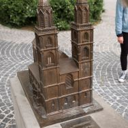 "This is a model of the Grossmünster church, where the Chagals were. It's there so that blind people can ""see"" it too!"