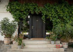Billy and Reeli's front door (complete with Lolli peeking through