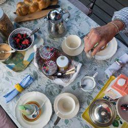 Breakfast earlier in the day